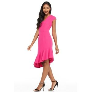 >>MAGGY🌷LONDON<< Hot Pink Asymmetrical Dress